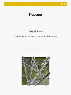 Pavane - 6 flutes piano - Score + parts FAURÉ Partition laflutedepan