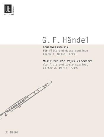 Feuerwerksmusik - HAENDEL - Partition - laflutedepan.com