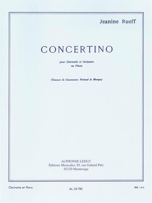 Concertino op. 15 - Jeanine Rueff - Partition - laflutedepan.com