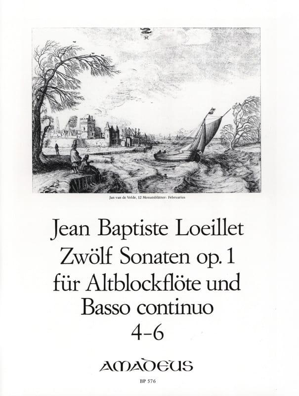 12 Sonaten op. 1 - n° 4-6 - Altblockflöte u. Bc - laflutedepan.com