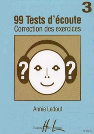 Annie Ledout - 99 Hörtests - Antworten - Band 3 - Partition - di-arezzo.de