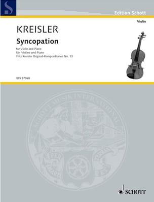 Syncopation KREISLER Partition Violon - laflutedepan