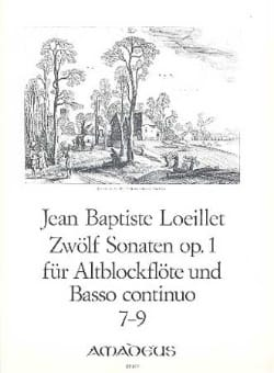de Gant Jean Baptiste Loeillet - 12 Sonaten op. 1 - No. 7-9 - Altblockflöte u. Bc - Partition - di-arezzo.co.uk