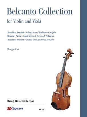 Bel Canto Collection - Violon et alto Partition 0 - laflutedepan