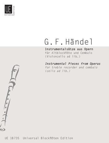Instrumentalsätze Aus Opern - HAENDEL - Partition - laflutedepan.com