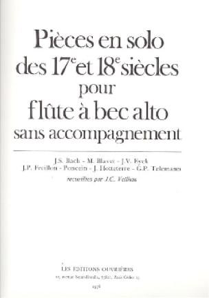 Pièces en Solo des 17 et 18eme Siècles - laflutedepan.com