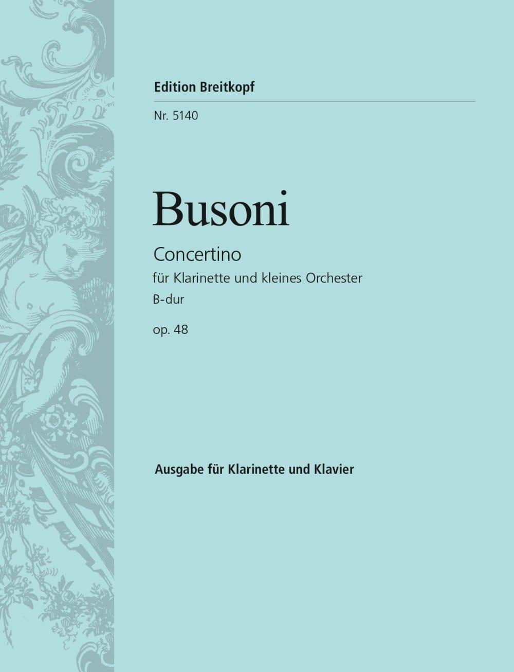 Concertino B-Dur op. 48 - clarinette - BUSONI - laflutedepan.com