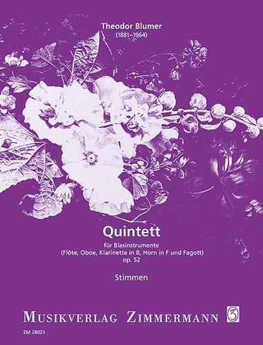 Quintett op. 52 - Blasinstrumente - Stimmen - laflutedepan.com