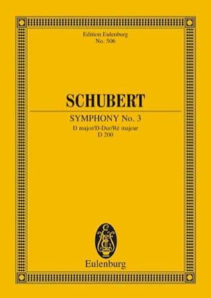 Symphonie Nr. 3 D-Dur SCHUBERT Partition Petit format - laflutedepan
