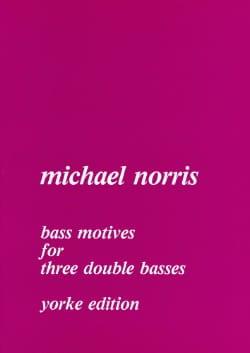 Bass Motives - 3 Double basses Michael Norris Partition laflutedepan