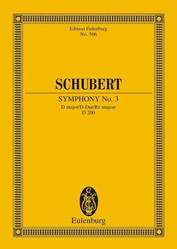 Symphonie Nr. 3 D-Dur - SCHUBERT - Partition - laflutedepan.com