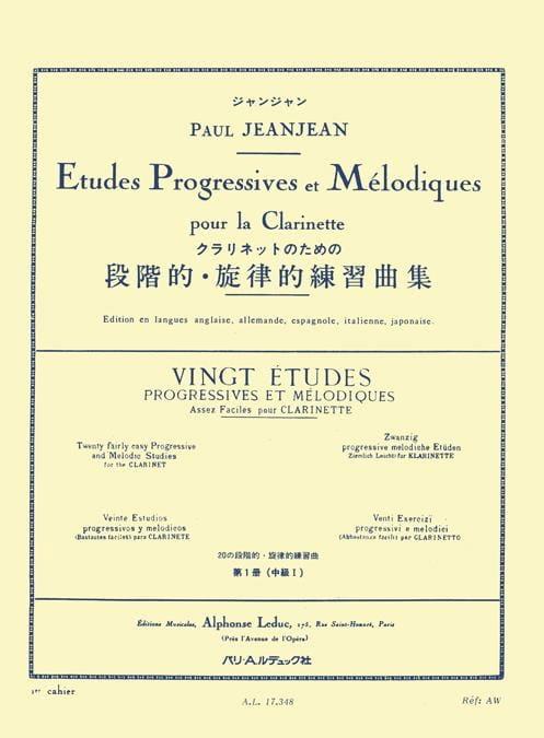 20 Etudes Progressives Volume 1 - Paul Jeanjean - laflutedepan.com