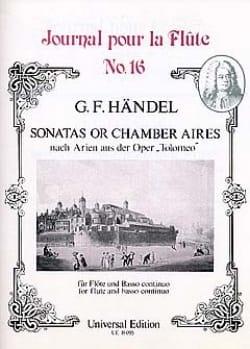 Sonatas or Chamber Aires - Flöte und Bc - HAENDEL - laflutedepan.com