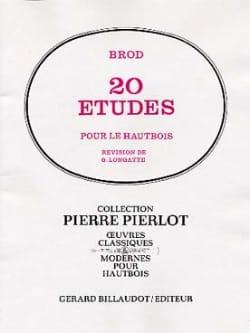 20 Etudes - Hautbois Henri Brod Partition Hautbois - laflutedepan