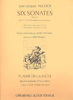 6 Sonates op. 9 - Volume 2 - Flûte Bc Jean-Jacques Naudot laflutedepan