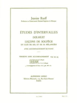 Jeanine Rueff - Interval Studies - Accompaniment - Partition - di-arezzo.co.uk