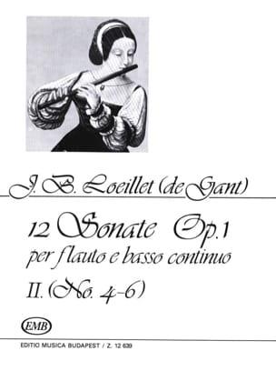 12 Sonates op. 1 - Volume 2 : n° 4-6 - Flauto e BC laflutedepan