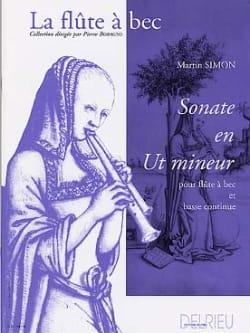 Sonate en ut mineur Martin Simon Partition Flûte à bec - laflutedepan