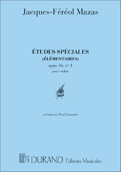 Etudes spéciales op. 36 n° 1 Lemaître - MAZAS - laflutedepan.com