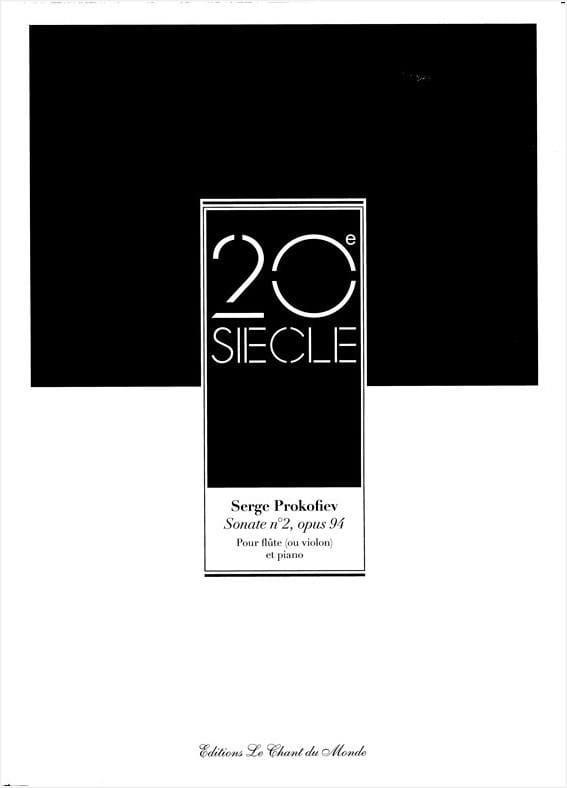 Sonate n° 2 op. 94 - Flûte piano - PROKOFIEV - laflutedepan.com
