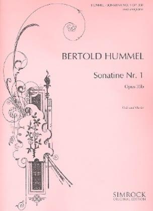 Sonatine N°1 Op.35b - HUMMEL - Partition - Alto - laflutedepan.com