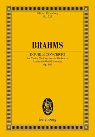 Doppel-Konzert A-Moll - Conducteur BRAHMS Partition laflutedepan