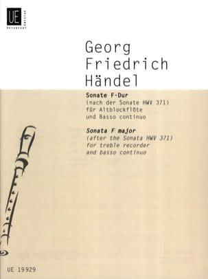 Sonate F-Dur für Altblockflöte u. Bc nach HWV 371 HAENDEL laflutedepan