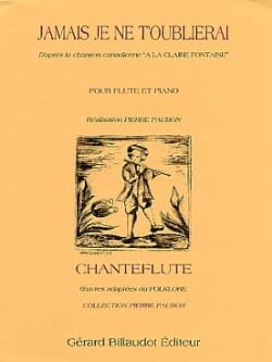 Jamais je ne t'oublierai - Flûte piano Pierre Paubon laflutedepan