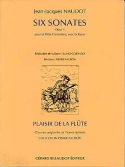 6 Sonates op. 4 - Flûte et Bc Jean-Jacques Naudot laflutedepan