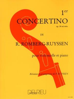 Concertino n° 1 op. 38 en mi mineur ROMBERG Partition laflutedepan