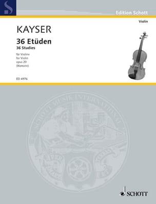 36 Etudes, op. 20 Hammann Heinrich Ernst Kayser Partition laflutedepan