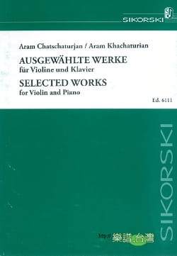 Selected Works KHATCHATURIAN Partition Violon - laflutedepan