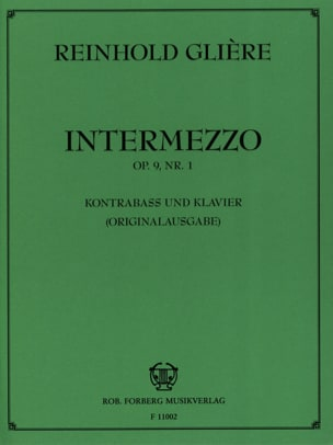 Reinhold Glière - Intermezzo op. 9 n ° 1 - Partition - di-arezzo.co.uk
