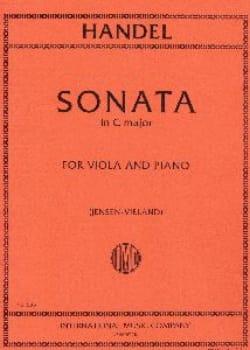 Sonata in C major - Viola HAENDEL Partition Alto - laflutedepan