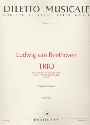 Trio C-Dur op. 87 -2 Oboen Englischhorn - Stimmen - laflutedepan.com