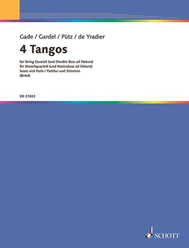 4 Tangos pour Quatuor à Cordes - laflutedepan.com