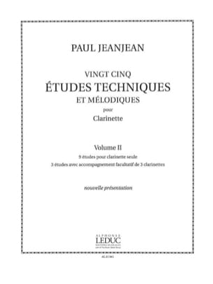 25 Etudes techniques - Volume 2 Paul Jeanjean Partition laflutedepan
