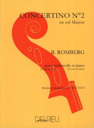 Concertino n° 2 en sol majeur Op. 38 ROMBERG Partition laflutedepan