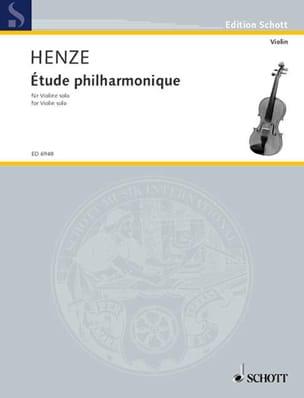 Etude philharmonique Hans Werner Henze Partition laflutedepan