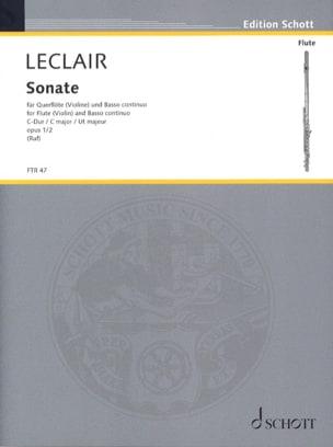 Sonate C-Dur op. 1 n° 2 - Flöte o. Violine u. BC LECLAIR laflutedepan