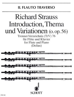 Richard Strauss - Introduction, Thema und Variationen op. 56 - Flöte Klavier - Partition - di-arezzo.com