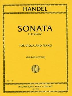 Sonata in G minor - Viola HAENDEL Partition Alto - laflutedepan