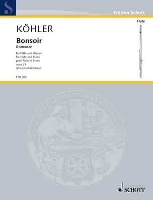 Bonsoir - Romance Op.29 Ernesto KÖHLER Partition laflutedepan