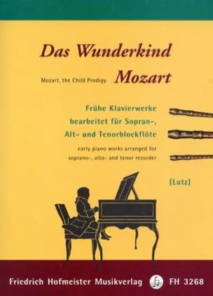 Das Wunderkind Mozart MOZART Partition Flûte à bec - laflutedepan