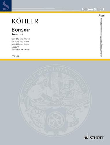 Bonsoir - Romance Op.29 - Ernesto KÖHLER - laflutedepan.com