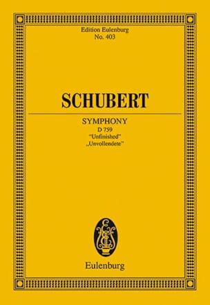 Symphonie N° 7 H-Moll SCHUBERT Partition Petit format - laflutedepan