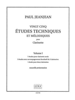 25 Etudes techniques - Volume 1 Paul Jeanjean Partition laflutedepan