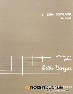 Farewell DOWLAND Partition Guitare - laflutedepan