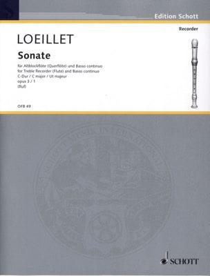 Sonate C-Dur op. 3 n° 1 - Altblockflöte u. Bc LOEILLET laflutedepan