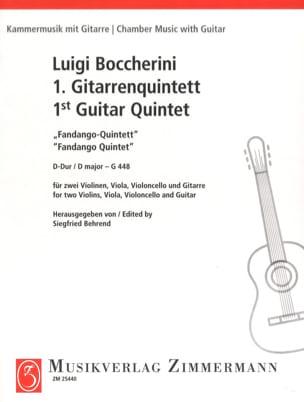 Fandango Quintette en Ré Majeur - G.448 BOCCHERINI laflutedepan